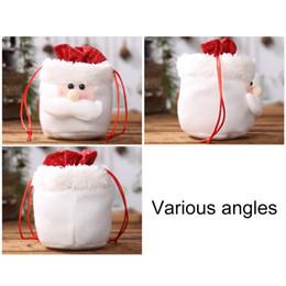 $enCountryForm.capitalKeyWord Australia - Snowman Santa Claus Apple Christmas Bags Gift Cute Santa Sacks 1pc Drawstring Packing Bag Merry Christmas Decoration