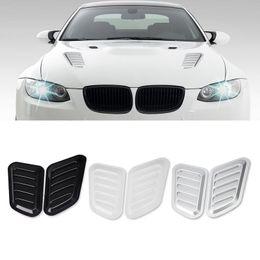 $enCountryForm.capitalKeyWord Australia - 2Pcs Car Fake Outlet Car Decoration Modified Vent Hood False Air Flow Intake Cover Sticker