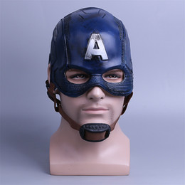 Adult Captain America Mask UK - Cosplay Captain America 3 Mask Avengers Civil War Mask Halloween Helmet Latex Mask Cosplay Costume