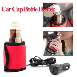 Electric Hot Warmer Australia - VODOOL Portable DC 12V Electric Car Water Cup Heater Cover Winter Travel Baby Bottle Warmer Hot Milk Drink Heating With Switch