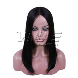 14 inch wigs straight NZ - VMAE Straight Bob Wigs Hair Bleached Knots Pre Plucked Hairline With Baby Hair Natural Color Full Lace Wigs 12 to 26 inch