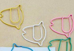 $enCountryForm.capitalKeyWord Canada - 3000pcs cute colorful fish shaped paperclip, student stationery gift iron animal paperclip,Free shipping mix color factory