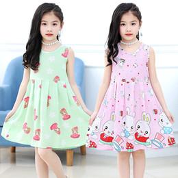 Girls cotton sundresses online shopping - Girls Summer Fruit Printed Dress Princess Nightgown Children Sleeveless Floral Dress Kids Cotton Sundress colors LLA423