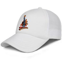 $enCountryForm.capitalKeyWord Australia - Superman Logo Paint red Classic posture kids baseball caps Classic Teen baseball cap Unisex white cap cool hats hats