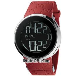 $enCountryForm.capitalKeyWord UK - New 114 YA114212 GMT Second Time Zone Steel Case Swiss Quartz Digital Dial Mens Watch Sports Watches In Original Box Red Rubber GC06-c3