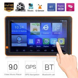 mp5 gps 2019 - 9 inch HD Car GPS Navigation Bluetooth WiFi FM MP3 MP4 MP5 Player 16G AVIN Truck Night Vision GPS Sat Nav Map Navigators