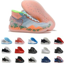 Kevin durant shoes usa online shopping - 2019 Hot Mvp Kevin Durant KD Anniversary University S XII Oreo Men Basketball Shoes USA Elite KD12 Sport Sneakers Size