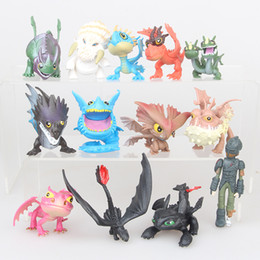 $enCountryForm.capitalKeyWord NZ - 13pcs set How To Train Your Dragon figure Toys Hiccup teethless Dragon PVC Figures kids collection gift home deocr items FFA1706