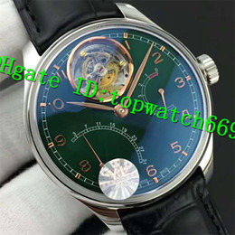 $enCountryForm.capitalKeyWord NZ - ZF Top Luxury 44MM 504601 Watch Power Reserve Swiss Tourbillon Automatic Stainless Steel Case Green Dial Black Leather Strap Mens Watch
