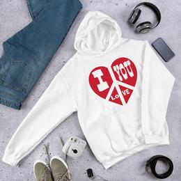 valentines clothing 2019 - I love you Hoodies Valentines Mother's day Sweatshirt tumblr Fashion Clothes Sweats Unisex sweatshirts Pullovers Ju