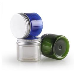 $enCountryForm.capitalKeyWord UK - 50g X 50 Empty Transparent Aluminum Cap Cream Container PET Cream Jar Mask Box Clear Plastic Pot Bottle With Screw Lid Tin