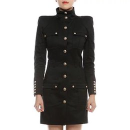 Wholesale Balmain Women Winter Coats Women Clothes Trench Coat For Women Trench Coat Polyester Cashmere Windbreaker Winter Clothes Size S-L