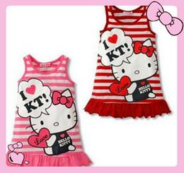 Women Velvet Clothes Australia - Cheap Xingkings Baby Girls Cute Hello Kitty Dress For Girl Summer Casual Cartoon Clothing Year 1- 5 KX-C1010