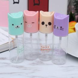 Cute spray bottles online shopping - 35ml Mini Cute Bottle Cartoon Plastic Transparent Empty Spray Atomizer Cosmetic Bottle Makeup Storage PC