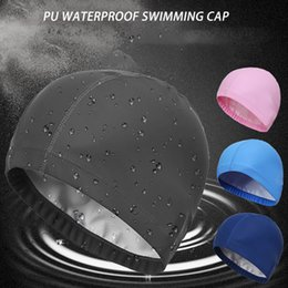 $enCountryForm.capitalKeyWord Australia - New 2019 Elastic Waterproof PU Fabric Protect Sports Swim Pool Hat Swimming Cap for Men & Women Adults#P58