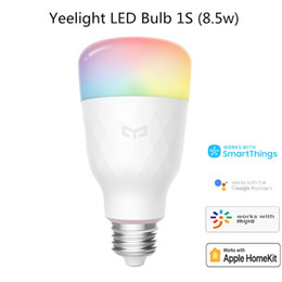 Xiaomi Mijia Yeelight 1s YLDP13L smart LED Lampadina colorata 800 lumen 8.5w E27 Lamone Smart Lamp per MI Smart Home App Bianco / RGB in Offerta