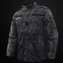 camo army uniform 2019 - Uniform Clothing Set Outdoor Jacket + Pants US RU Army Camouflage Uniform Men BDU Multicam Camo ~ cheap camo army unifor