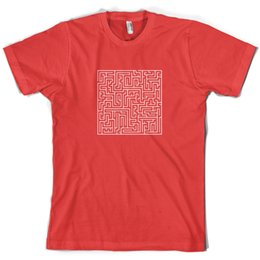 $enCountryForm.capitalKeyWord UK - Maze Mens T shirt Labyrinth Puzzle Present 10 Colours Free Uk P&p Print T Shirt Mens Short Sleeve Hot Tops Tshirt