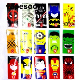 Wholesale The battery wrapper VapeSoon super hero battery skin sticker for e cig battery Spider Man Captain American