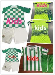 17 boy shorts online shopping - JOAQUIN VAN DER VAART BOUDEBOUZ MANDI BARTRA Real Betis Soccer Jersey GARCIA Custom Home Away Kids Youth Football Shirt