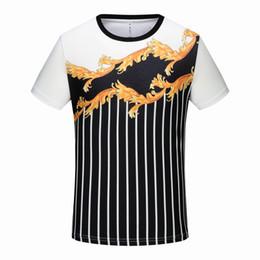 $enCountryForm.capitalKeyWord NZ - 2019 New Mens Cotton Short Sleeve T-Shirt Tee 3D Print Painted Totem Black White Stripes Pattern Summer No Ironing Shirt