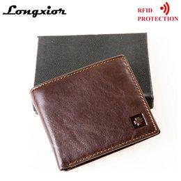 $enCountryForm.capitalKeyWord Australia - MRF1 RFID Blocking Wallet Men Genuine Cow Leather Vintage Purses Identity Theft Protection Money Bag Cards Holder Clutch Wallets #124661