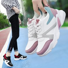 Shoes Circle Australia - Lucky2019 Women's Fund Deep Sneakers Circle Head Muffin Bottom Dad Women's Casual Shoes Spelling Color