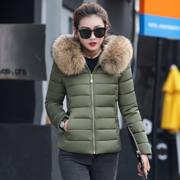 Womens Parkas Australia - Women Plus Size Womens Parkas Thicken Outerwear Solid Hooded Coats Short Female Slim Cotton Padded Basic Tops