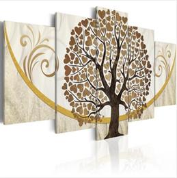 $enCountryForm.capitalKeyWord Australia - ( No Frame)5PCS Set Modern Abstract Tree Full of Love Art Print Frameless Canvas Painting Wall Picture Home Decoration
