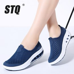 $enCountryForm.capitalKeyWord NZ - Stq 2019 Spring Sneakers Flat Women Breathable Mesh Casual Slip On Platform Creepers Shoes 7690 MX190816