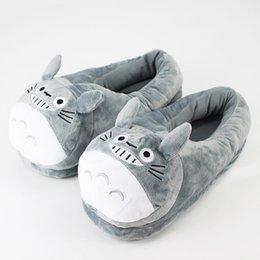 ac6558883aa 28cm Totoro Slippers warm winter shoes plush cartoon Miyazaki Hayao movie  My Neighbor Tonari no Totoro kawaii animal slippers
