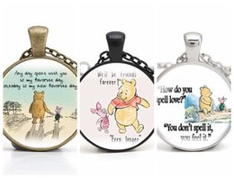 Favorite Glasses NZ - Cartoon Bear Pendant Necklace Inspirational Any day with you is my favorite day Handmade Necklaces Gifts for Friends Lover Choker Wholesale