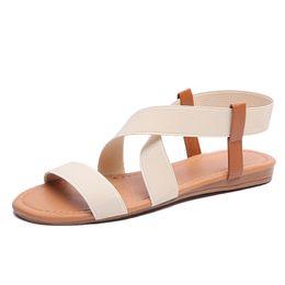 0cc724d13 Brown Green Cross Sandals UK - New Summer Gladiator Sandals Women Platform  Creepers Cross-Tied