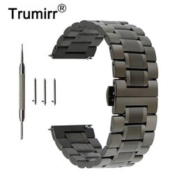 $enCountryForm.capitalKeyWord Australia - 22mm Stainless Steel Watchband For Samsung Gear S3 Galaxy Watch 46mm Quick Release Strap Butterfly Buckle Band Wrist Bracelet T190620