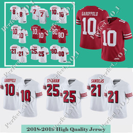 10 Jimmy Garoppolo Men s San Francisco Jersey 49er 7 Colin Kaepernick 25  Richard Sherman 80 Jerry Rice 56 Reuben Foster 16 Joe Montan 302625aac