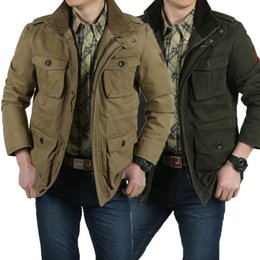 cargo military jacket NZ - 2018 New large Size jackets L-8XL Military Jacket Men Autumn And Winter Cotton Jacket Coat Army Men's Jackets Spring Cargo Plus
