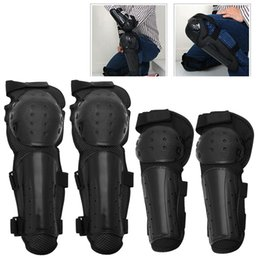 Elbow Braces Australia - 4Pcs Knee Support Motorcycle Knee Protector Adjustable Belt Brace Protection Elbow Pad Kneepad Gym Sports Accessories