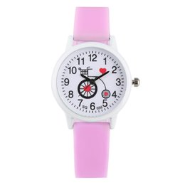 $enCountryForm.capitalKeyWord Australia - Cute Bicycle Patterns Dial Watch for Children Pink Blue Silicone Band Watches for Boys Girls Quartz Analog Watch Kids