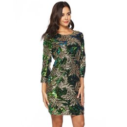 Sequin Sexy Clothes UK - Designer fashion new product explosion models Europe and the United States foreign trade sexy high-end sequin autumn dress women's clothing