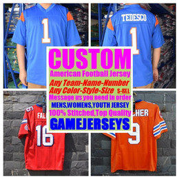 af648ac29 Custom american football jerseys college cheap authentic color rush sports  jersey stitched mens womens youth kids 4xl 5xl 6xl 7xl 8xl shirts