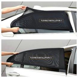 $enCountryForm.capitalKeyWord NZ - 4 pcs Summer Auto Car Sunshade 100x52cm Side Rear Window Sun Shade Mesh Car Visor Shield Cover UV Protection Adjustable Curtain