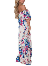 c84105318f48 2019 European and American Women s Collar Printed Chest-wrapped Summer  Dresses Leisure and Comfortable Trend Seaside Holiday Wind