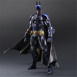 Arkham Figures NZ - Play Arts Batman Arkham Knight Blue Anime Figure Action Figures CollectibleMoble Hot Toys Birthdays Gifts Doll Hot Sale Free Shipping
