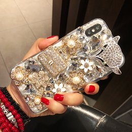 cover flowers NZ - Luxury Flowers Phone Case For Huawei Mate 20 20X 9 10 Pro Lite P10 P20 P30 Pro Lite Plus Rhinestone Diamond Fox Phone Back Cover