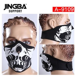 $enCountryForm.capitalKeyWord Australia - JINGBA SUPPORT New Halloween Skull Cool mask Outdoor sport half face mask riding bike ski Manufacturer Dropshipping