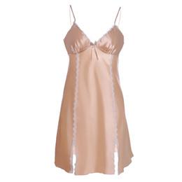 1b3c966b8c Women Pajamas Sexy Lingerie Women Sleepwear Satin Lace Chemise Nightwear  plus size dress pajamas silk  8
