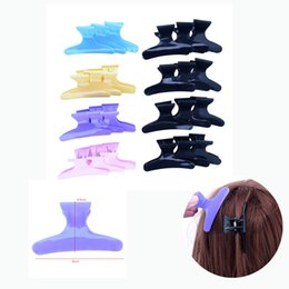 $enCountryForm.capitalKeyWord Australia - Wholesale 12Pcs Pack Butterfly Holding Hair Claw Section Styling Tools Hair Clip Clamps Hairpins Pro Salon Hairdressing Tool