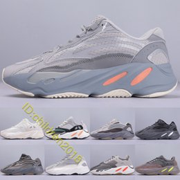 running shoes size 11 NZ - Kanye West 700 V2 Inertia Running Shoes For Men Women Trainers Newest Designer High Quality Geode Static Tephra Magnet Sneakers Size 5-11
