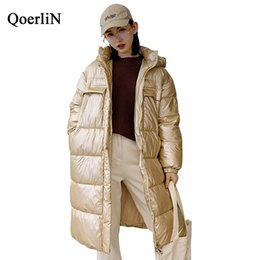 woman hoodies Canada - QoerliN Stylish Parkas Winter Woman 2018 Autumn New Arrivals Hoodies Long Sleeve Warm Thick Long Coat Female Pocket Outwear Hot