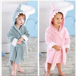 $enCountryForm.capitalKeyWord Australia - 2-6 Year Baby Robe Cartoon Hoodies Girl Boys Sleepwear Good Quality Bath Towels Kids Soft Bathrobe Pajamas Children's Clothing J190520